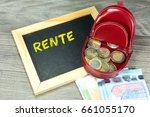 euro money and a chalkboard... | Shutterstock . vector #661055170