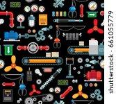 machinery industrial seamless... | Shutterstock . vector #661055779
