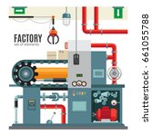manufacturing conveyor in flat... | Shutterstock . vector #661055788