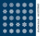 snowflakes set for holiday