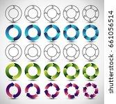 collection of circular diagrams ... | Shutterstock .eps vector #661056514