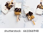 smores ice cream with graham... | Shutterstock . vector #661066948