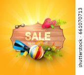 summer sale design template...   Shutterstock .eps vector #661070713