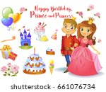 cute birthday design elements... | Shutterstock .eps vector #661076734