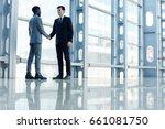 portrait of smiling businessman ... | Shutterstock . vector #661081750