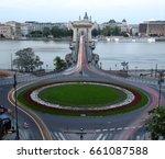 chain bridge at night       | Shutterstock . vector #661087588