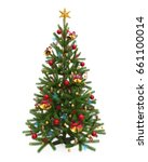 decorated christmas tree... | Shutterstock . vector #661100014
