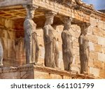 Detail Of Caryatids Statues On...