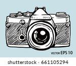 vector sketch style of retro... | Shutterstock .eps vector #661105294