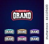 set of the power full grand... | Shutterstock .eps vector #661105600
