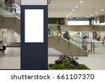 blank mock up of vertical... | Shutterstock . vector #661107370