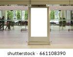 blank mock up of vertical... | Shutterstock . vector #661108390