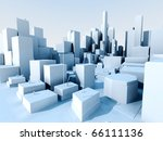 3d image of city landscape with ... | Shutterstock . vector #66111136