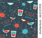 mid century usa patriotic...   Shutterstock .eps vector #661111933