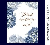 vintage delicate invitation...   Shutterstock .eps vector #661114744