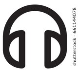 headphones vector icon | Shutterstock .eps vector #661144078