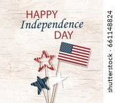 independence day. us... | Shutterstock . vector #661148824