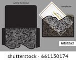 vector laser cutting. | Shutterstock .eps vector #661150174