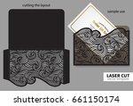 vector laser cutting. | Shutterstock .eps vector #661150174