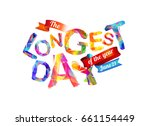 the longest day  june 21... | Shutterstock .eps vector #661154449