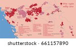 wine map valley loire | Shutterstock .eps vector #661157890