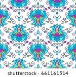vector illustration seamless... | Shutterstock .eps vector #661161514