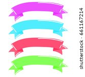 ribbon candy | Shutterstock .eps vector #661167214