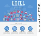 hotel services concept with... | Shutterstock .eps vector #661173148