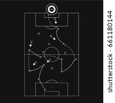 football  soccer  tactic draft | Shutterstock .eps vector #661180144