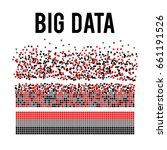 big data visualization. machine ... | Shutterstock .eps vector #661191526