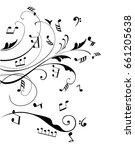 vector illustration of musical... | Shutterstock .eps vector #661205638