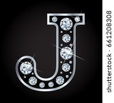 vector letter j in diamond... | Shutterstock .eps vector #661208308