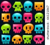 Funky Gummy Colorful Skulls.