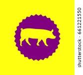 pig sign illustration. vector....   Shutterstock .eps vector #661221550