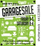 garage or yard sale with signs  ... | Shutterstock .eps vector #661228858