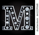 vector m letter made with... | Shutterstock .eps vector #661229068