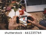 taking photo with a smart phone ... | Shutterstock . vector #661235764