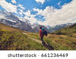 activity sports. hiking on a... | Shutterstock . vector #661236469