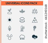 nature icons set. collection of ... | Shutterstock .eps vector #661240168
