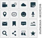 media icons set. collection of... | Shutterstock .eps vector #661241146