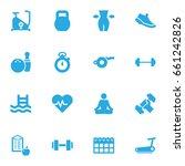 set of 16 training icons set... | Shutterstock .eps vector #661242826