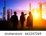 silhouette of teams engineer... | Shutterstock . vector #661247269