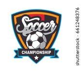 soccer logo  football badge... | Shutterstock .eps vector #661248376