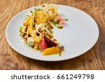 beautiful and tasty food on a... | Shutterstock . vector #661249798