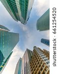 upward view of singapore... | Shutterstock . vector #661254520