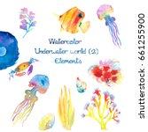 Watercolor Underwater World