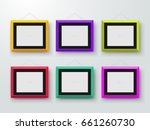 empty colored photo frames on... | Shutterstock .eps vector #661260730