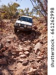 Small photo of Gibb River Road, Australia - Jul 2, 2012: The outback track between Tableland and Springvale Station Homesteads was closed 30 years ago. Very few adventurous 4WD enthusiasts now attempt this journey.