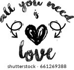all you need is love   Shutterstock .eps vector #661269388
