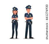 police character vector design | Shutterstock .eps vector #661276930
